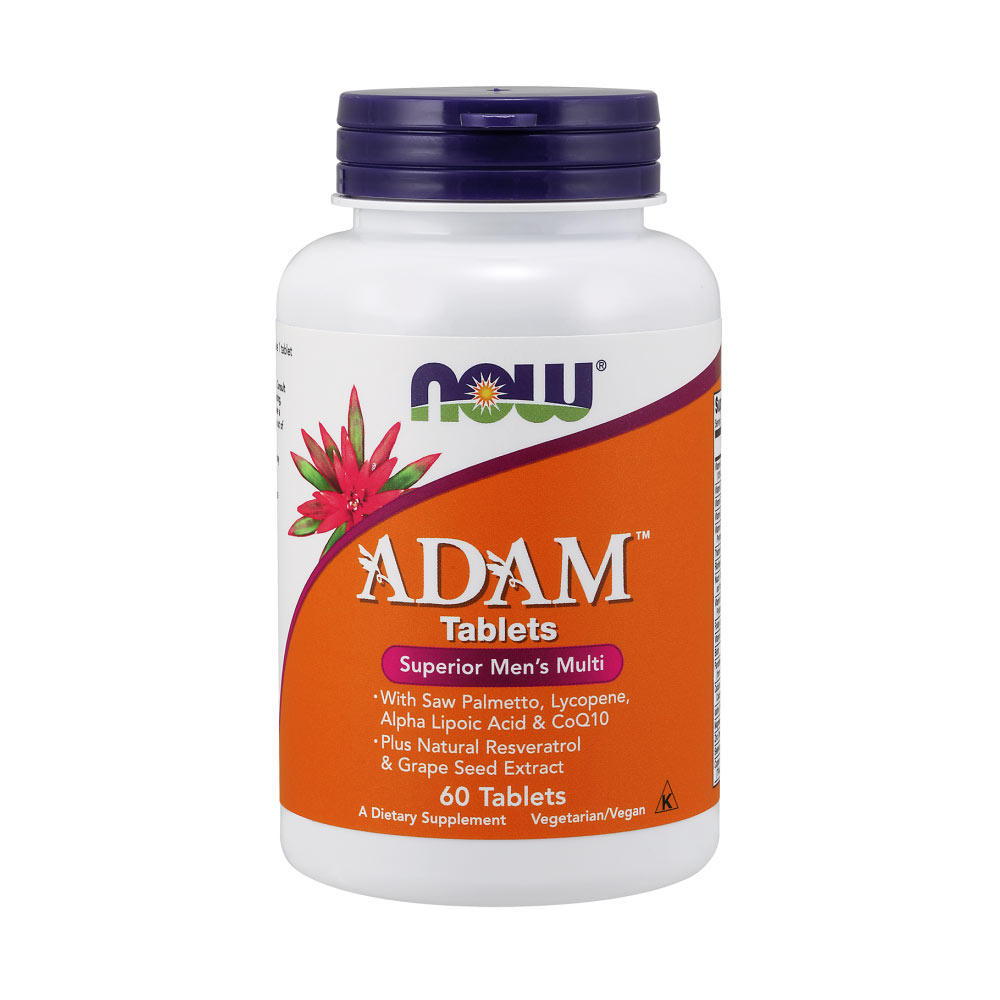 NOW Foods Adam Superior Men's Multiple Vitamin - 60 Multivitamin Tabletten