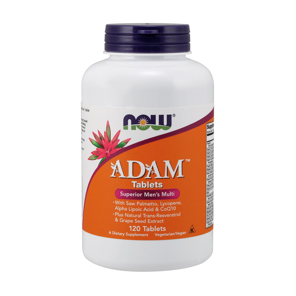 NOW Foods Adam Superior Men's Multiple Vitamin -120 Multivitamin Tabletten