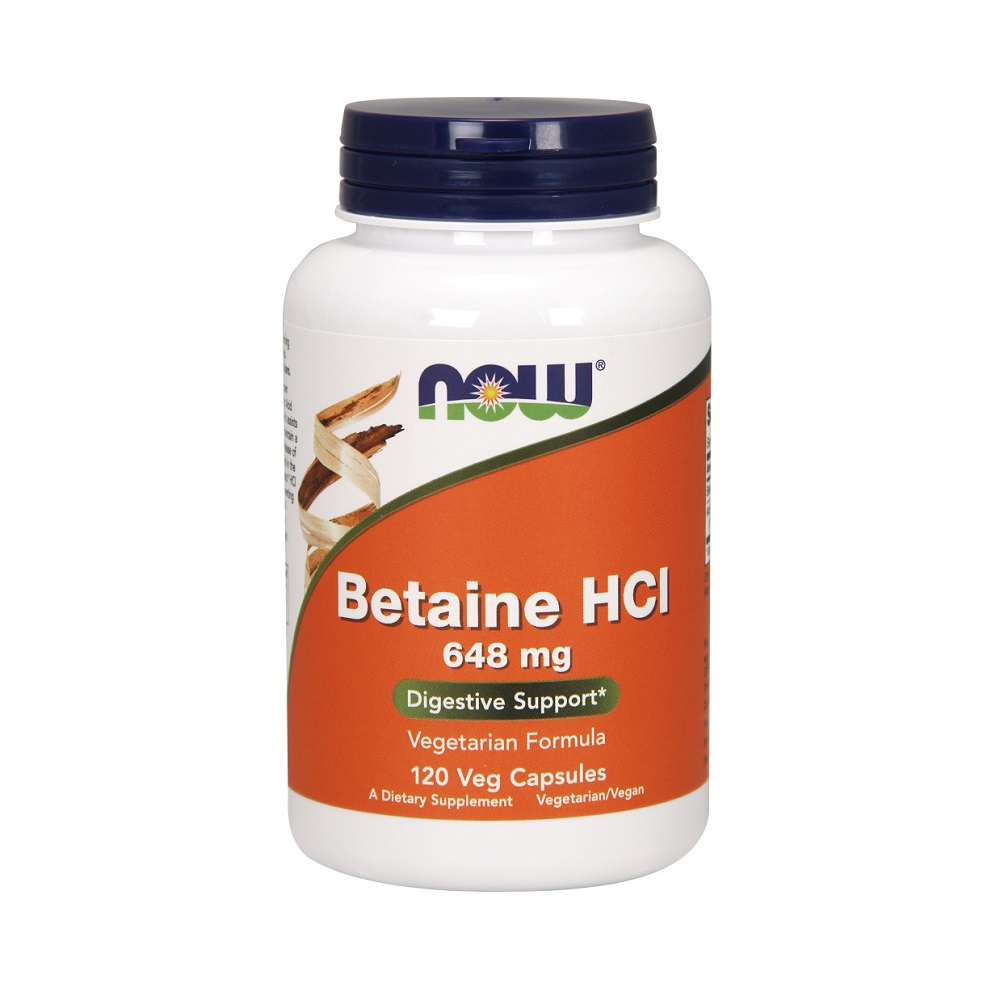 Now Foods Betaine HCL 120 CAPS