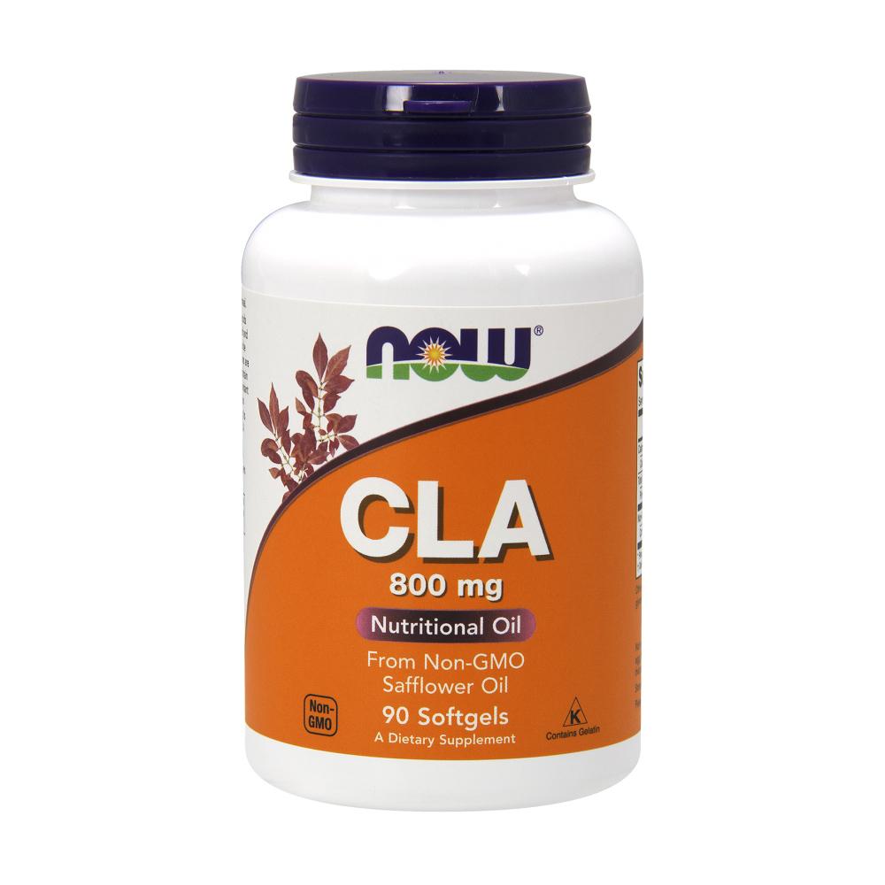 CLA Kapseln 800 mg konjugierte Linolsäure 90 Softgels von NOW Foods