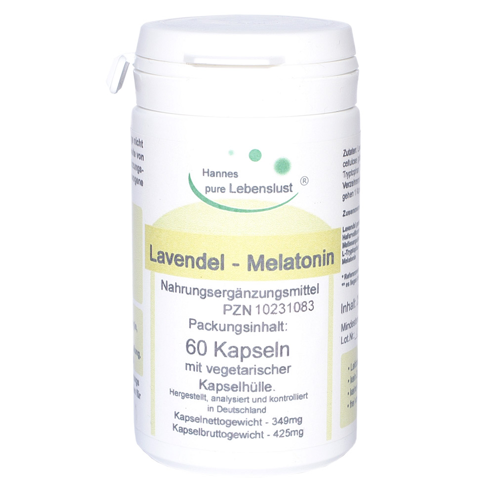 El Compra Lavendel Melatonin 60 Kapseln 1mg Dosierung