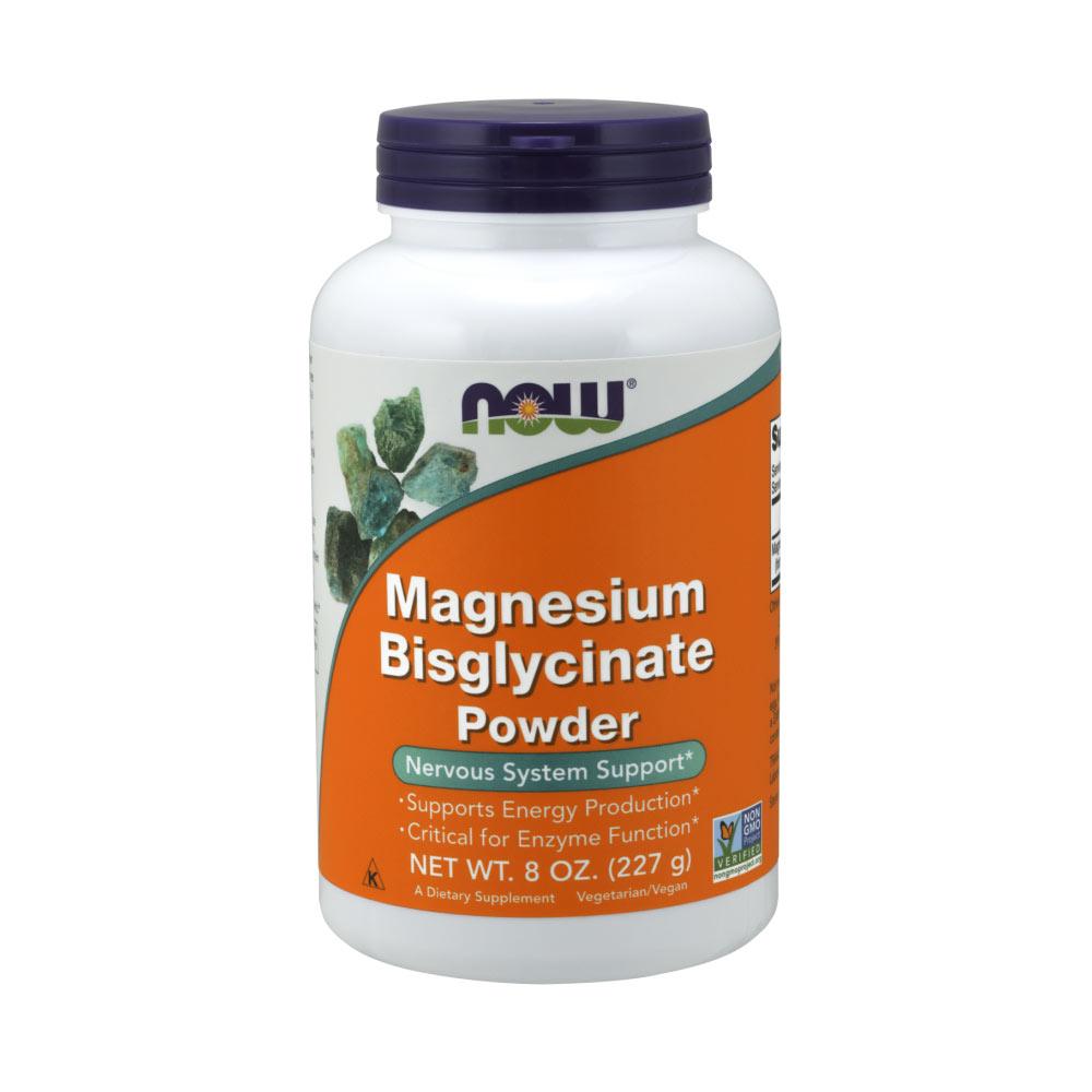 Magnesium Bisglycinat Pulver 227g von NOW Foods