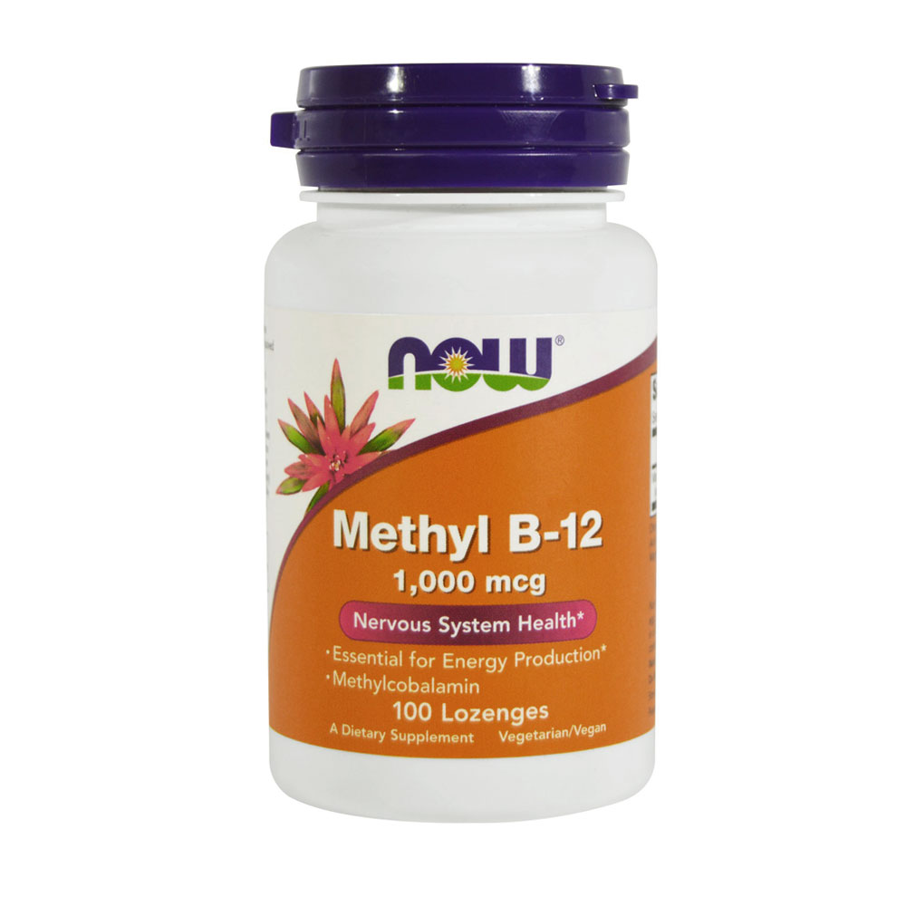 Vitamin B12 Methylcobalamin Lutschtabletten 1000 mcg von NOW Foods