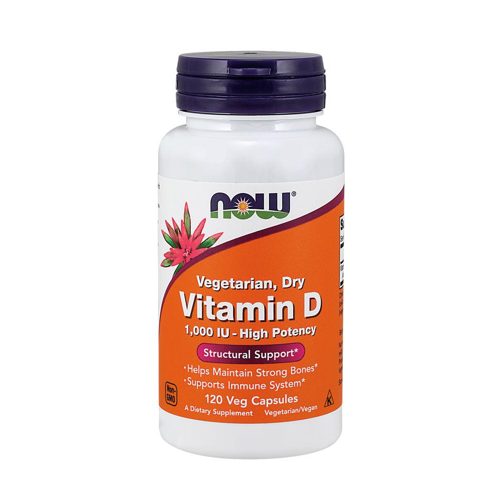 Vitamin D2 vegan (Ergocalciferol) 120 vegetarische Kapseln von Now Foods