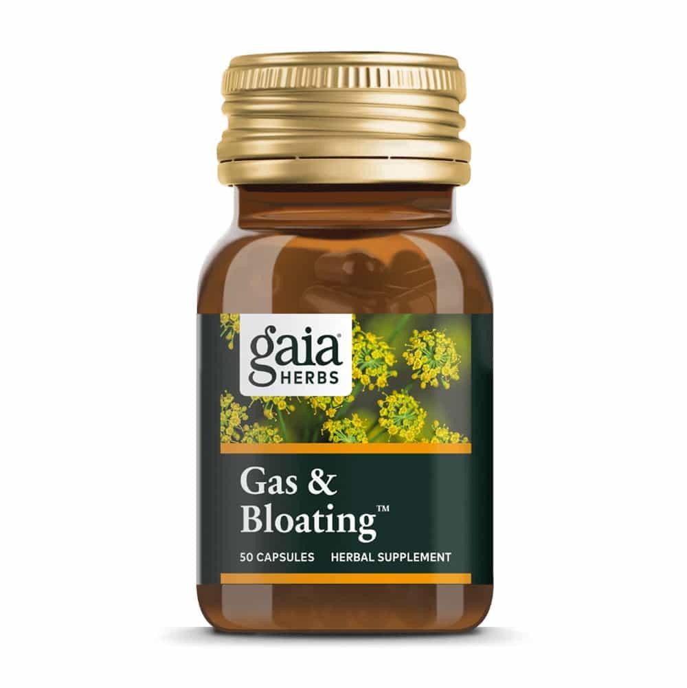 Gas & Bloating von Gaia Herbs, 50 Kapseln