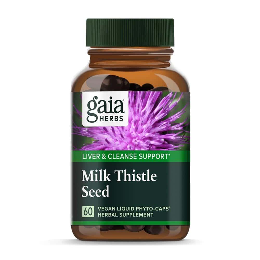 Milk Thistle Seed, Mariendistel Samen von Gaia Herbs, 60 Kapseln
