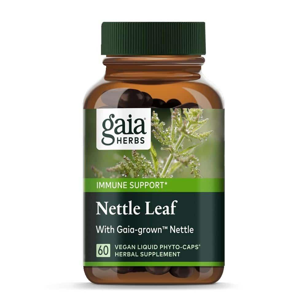 Nettle Leaf, Brennesselblatt von Gaia Herbs, 60 Kapseln