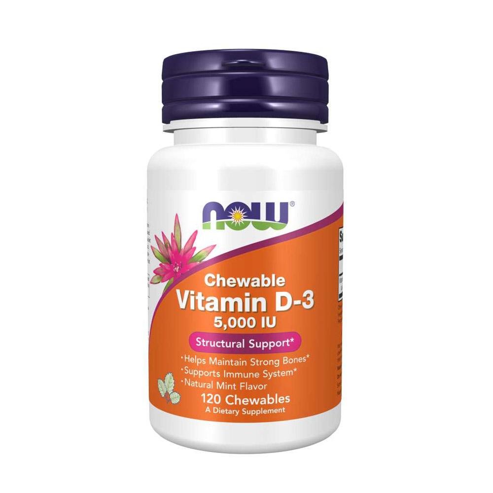 NOW Vitamin D3 5000 IE chewable