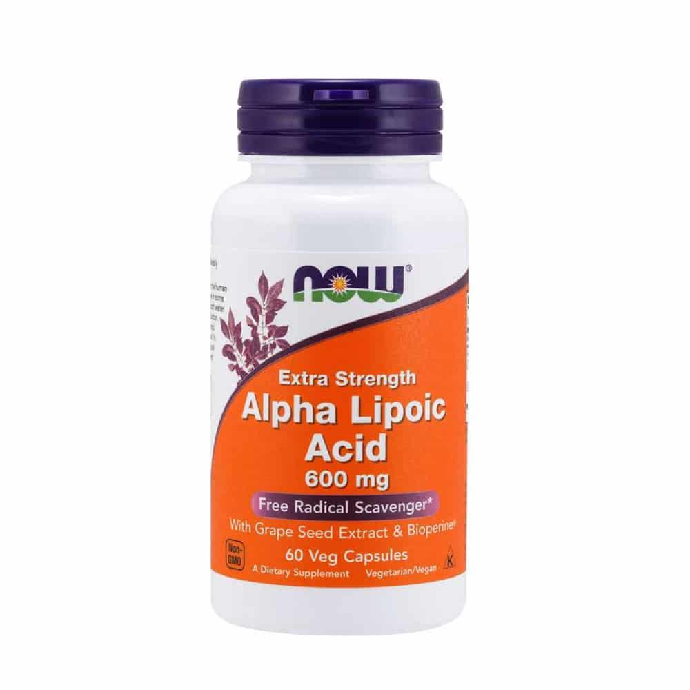 Alpha Liponsäure Kapseln 600mg - 60 VCaps von NOW Foods
