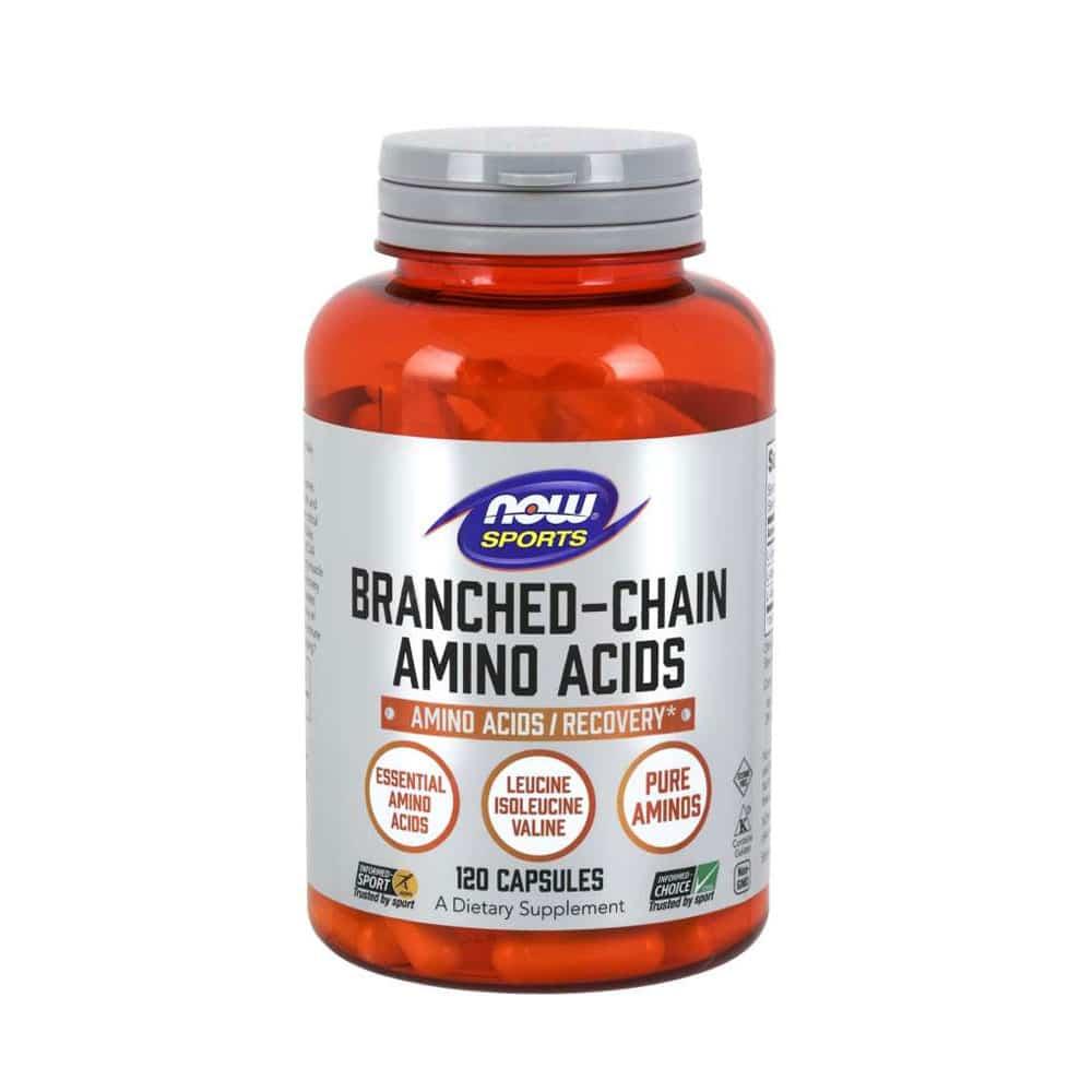 BCAA Kapseln Free Form 800mg Caps (Leuzin, Isoleuzin, Valin) von NOW Foods