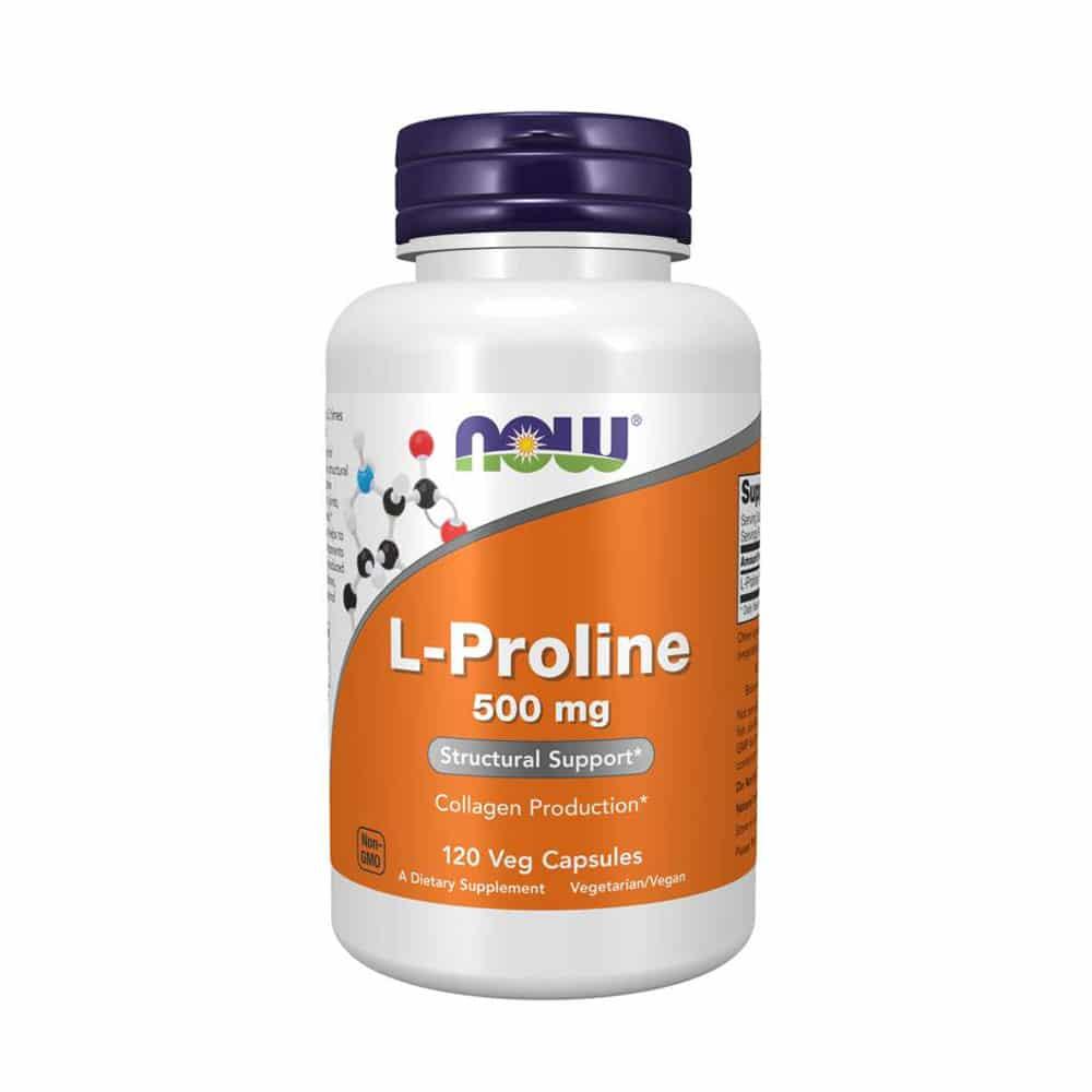 Now Foods L-Proline - 500 mg - 120 Vegetarische Kapseln