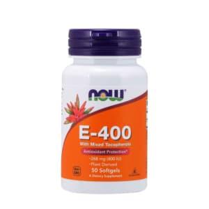 Natural E-400 IU Vitamin E Kapseln