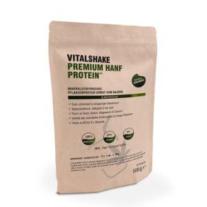 VitalShake Premium - Hanfprotein Pulver 500g