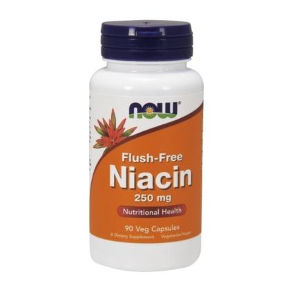 Now Foods, Niacin Flush Free 250mg 90 Kapseln vegetarisch