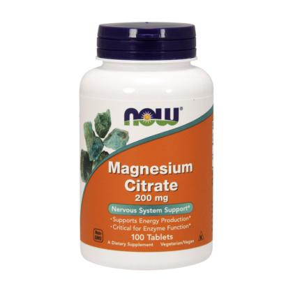 Magnesiumcitrat Tabletten 200mg vegetarisch von NOW Foods