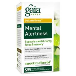 Mental Alertness von Gaia Herbs rein pflanzlich und vegan