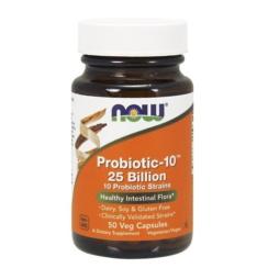 Now Foods Probiotic-10 25 Billion - 50 Veg Capsules