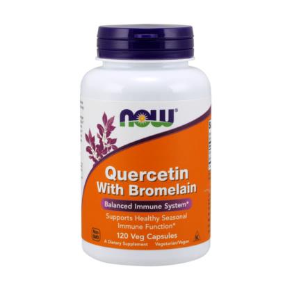 Quercetin und Bromelain 120 Kapseln vegetarisch von NOW Foods