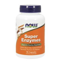 Super Enzymes 90 Kapseln Verdauungsenzyme von NOW Foods