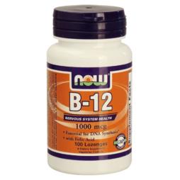Vitamin B12 1000mcg mit Folsäure 100mcg Präparat von NOW Foods